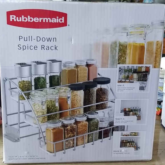 Rubbermaid Kitchen Pull Down Spice Rack Poshmark